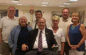 Board Members with Congressman James Langevin